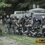 Playing paintball with our partners